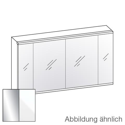 Artiqua 400 LED Spiegelschrank B: 126,5 H: 73 T: 16 cm, 4 Türen Front verspiegelt / Korpus weiß glanz 072-SDT-2-12-68, EEK: A+