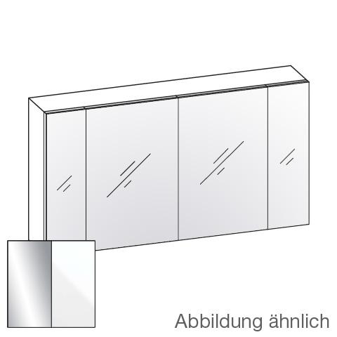 Artiqua 400 Spiegelschrank B: 130 H: 70 T: 16 cm, 4 Türen Front verspiegelt / Korpus weiß glanz 070-SDT-1-13-68