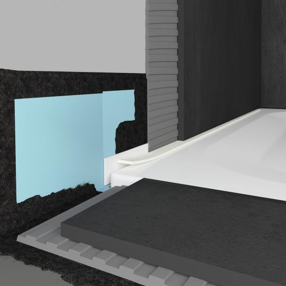 Bette Dichtsystem Pro für bodenebene Montage von Duschwannen B57-0377