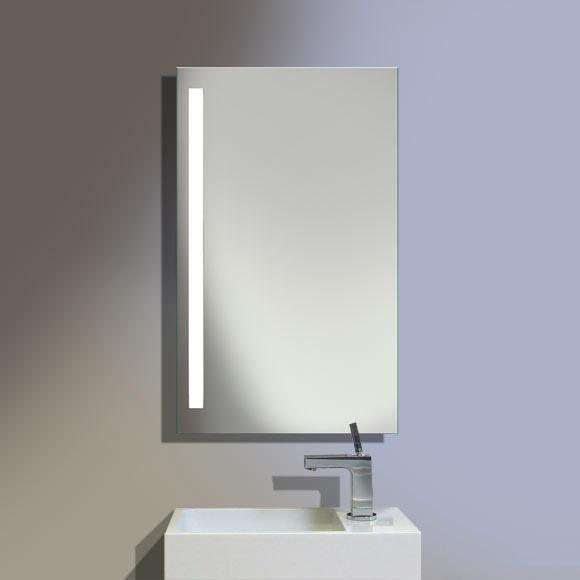 Burgbad Crono beleuchteter Spiegel B: 50 H: 92 T: 3,8 cm, Leuchte links SIAE050L1020, EEK: A+