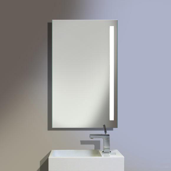 Burgbad Crono beleuchteter Spiegel B: 50 H: 92 T: 3,8 cm, Leuchte rechts SIAE050R1020, EEK: A+