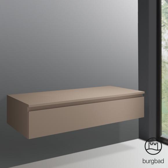 Burgbad Cube Sideboard B: 120 H: 25,5 T: 52,5 cm, 1 Auszug Front schilf matt / Korpus schilf matt USIF120F3793