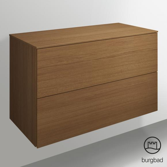 Burgbad Essence Sideboard B: 100,6 H: 61 T: 48,5 cm, 2 Auszüge Front tectona zimt dekor/Korpus tectona zimt dekor USZQ10TF3878
