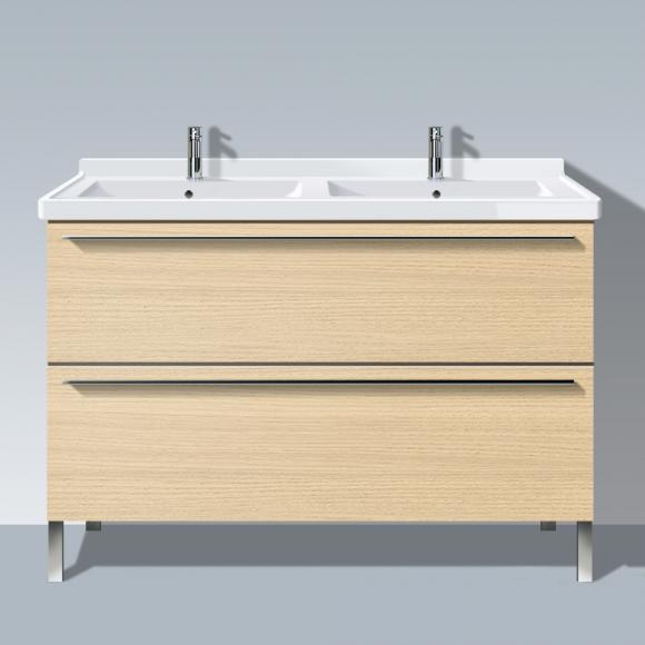 Duravit X-Large Waschtischunterschrank für Doppelwaschtisch B: 120 H: 66,8 T: 47 cm, 2 Auszüge Front mediterrane eiche / Korpus mediterrane eiche XL653807171