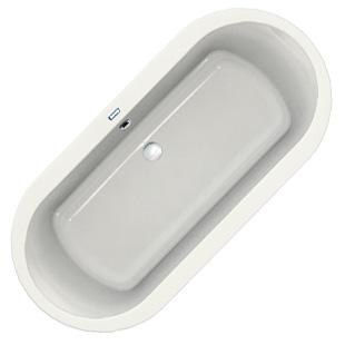 Duscholux Prime-Line 259 Oval-Badewanne L: 200 B: 90 H: 45 cm weiß 615259000001