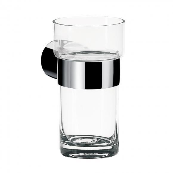 Emco Fino Glashalter mit Kristallglas, Wandmodell chrom, Kristallglas klar 842000101