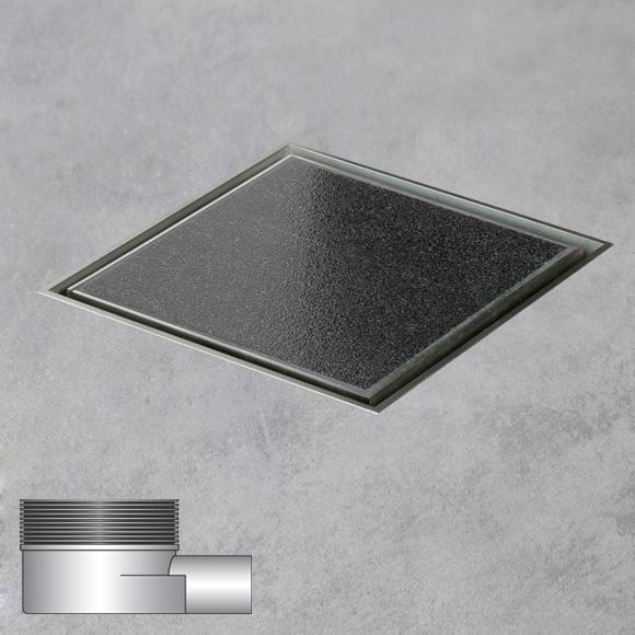 ESS Aqua Quattro Multi Bodenablauf DN40 für Fliese L: 10 B: 10 cm, waagerecht AquaW-10x10-MSI6-T