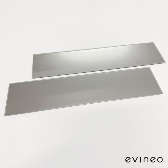 Evineo ineo Spiegelabdeckungen für Befestigung, 2 Stück, für Spiegelschrank B: 120 cm BL000073