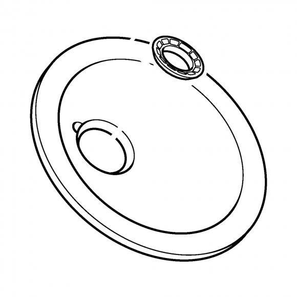 Hansa Wasserschale Ø 190 mm für Murano Waschtisch-Einhand-Einlochbatteri 59912517