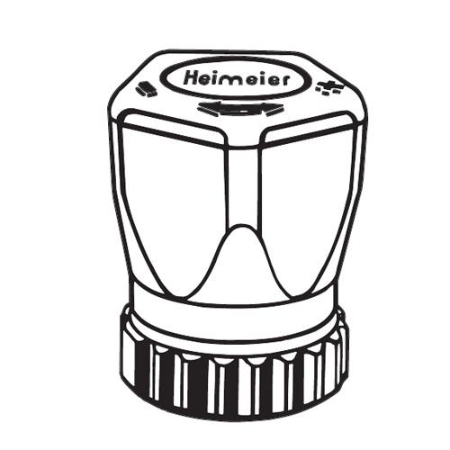 HEIMEIER Handregulierkappe mit Direktanschluss 1303-10.325