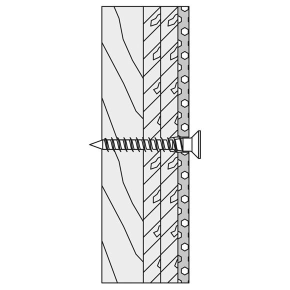 Hewi Befestigungsmaterial für Wandstütz- und Stützklappgriffe für Leichtbauwände BM12.4