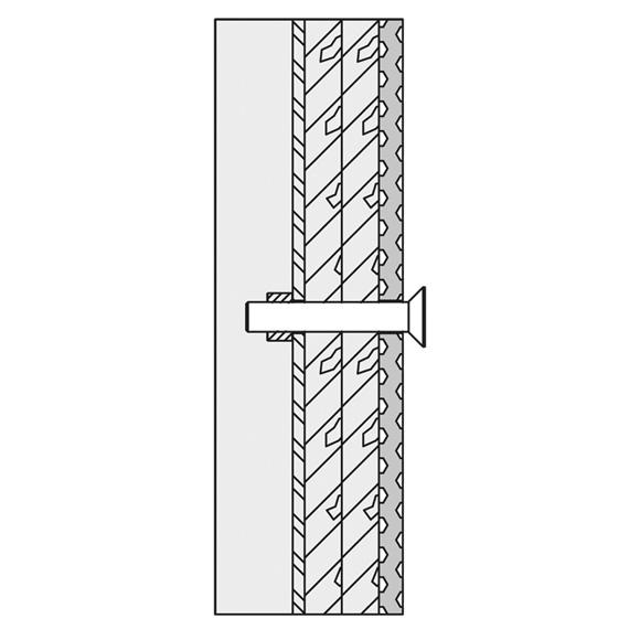 Hewi Befestigungsmaterial für Wandstütz- und Stützklappgriffe für Leichtbauwände BM13.4