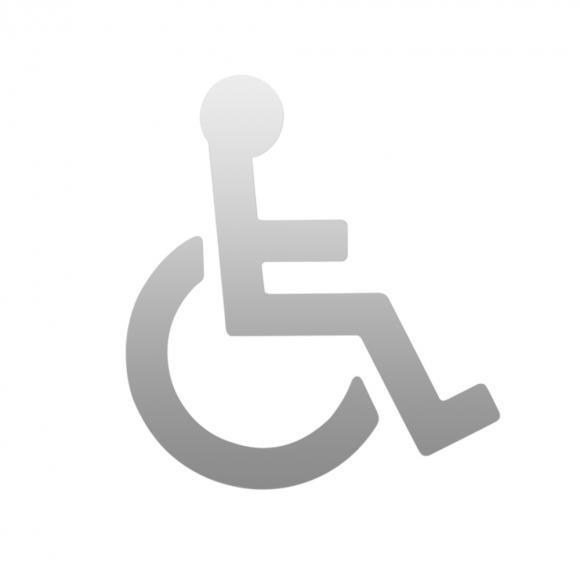 Hewi Universal Symbol Rollstuhl B: 135 H: 150 T: 1,5 mm chrom 710XC.150.3