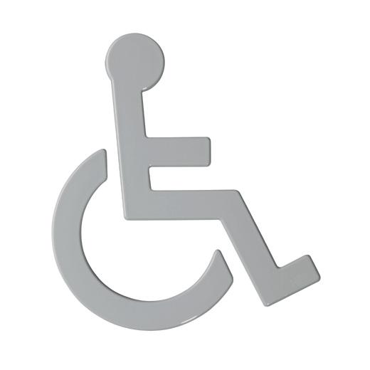 Hewi Universal Symbol Rollstuhl B: 135 H: 150 T: 3 mm felsgrau 801.91.030 95