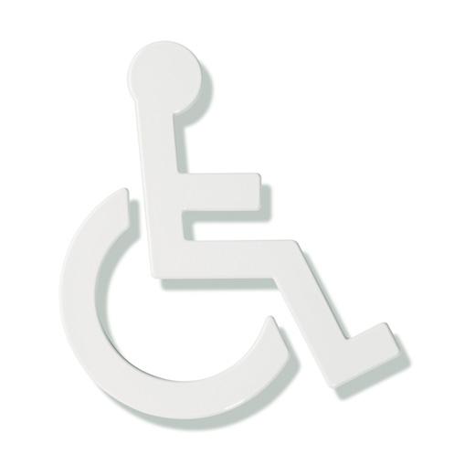 Hewi Universal Symbol Rollstuhl B: 135 H: 150 T: 3 mm reinweiß 801.91.030 99