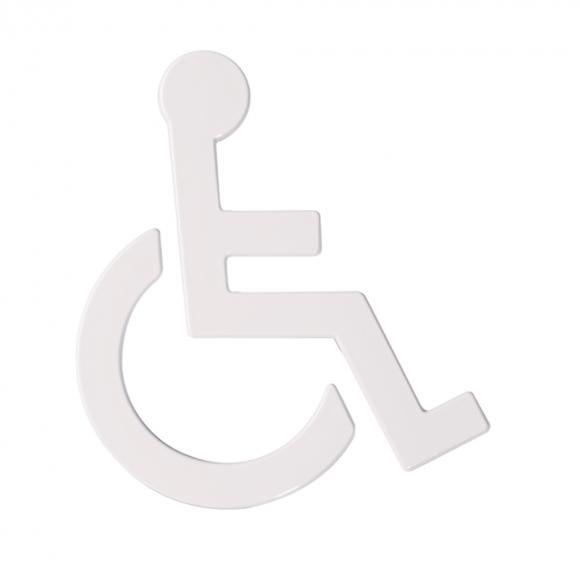 Hewi Universal Symbol Rollstuhl B: 135 H: 150 T: 3 mm signalweiß 801.91.030 98