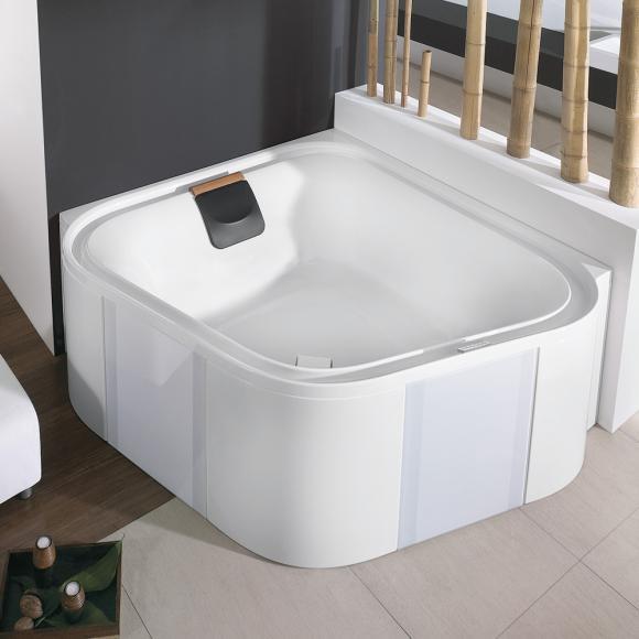 Hoesch ERGO Eck-Badewanne mit Verkleidung L: 164 B: 164 H: 48 cm weiß, Verkleidung: Acryl weiß/Glas weiß 6443.010305550