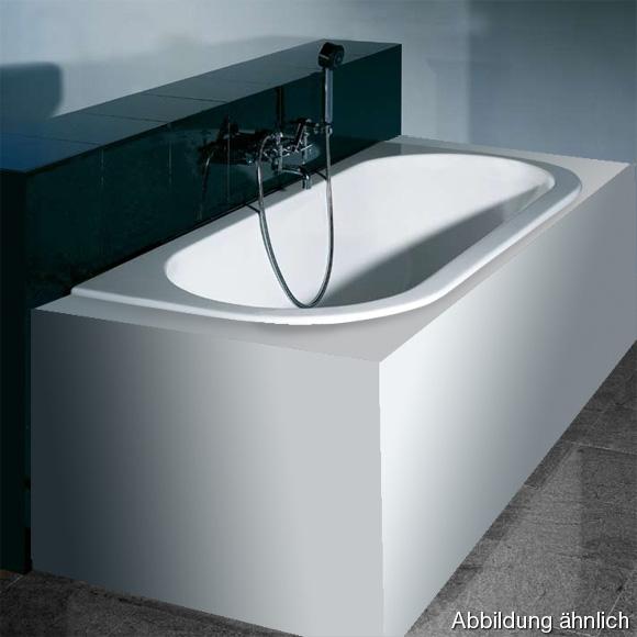 Hoesch HAPPY D Halbrunde Vorwand-Badewanne L: 180 B: 80 H: 45 cm weiß 6180.010
