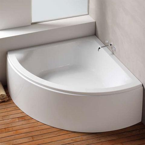 Hoesch SCELTA Eck-Badewanne mit Verkleidung L: 153,2 B: 153,2 H: 48 cm weiß 3678.010