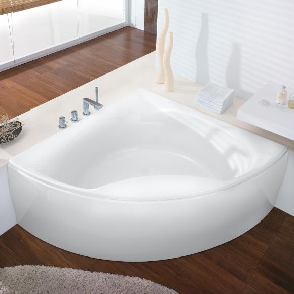 Hoesch SQUADRA Eck-Badewanne mit Verkleidung L: 150 B: 150 H: 47 cm weiß 6138.010