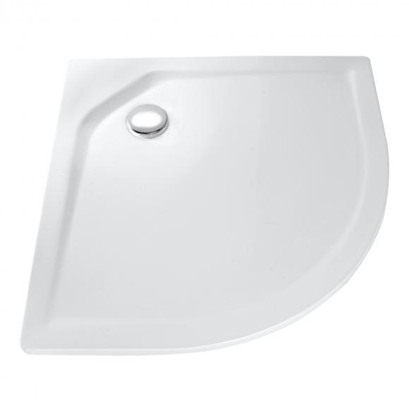 HSK Viertelkreis Duschwanne, asymmetrisch, flach L: 90 B: 75 H: 2,5 cm, Radius 55 cm, R weiß 505097-04