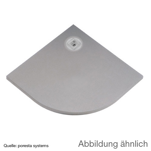 poresta systems BF Duschelement L: 100 B: 100 H: 4,5 cm, dezentrierter Ablauf, Viertelkreis 17903037