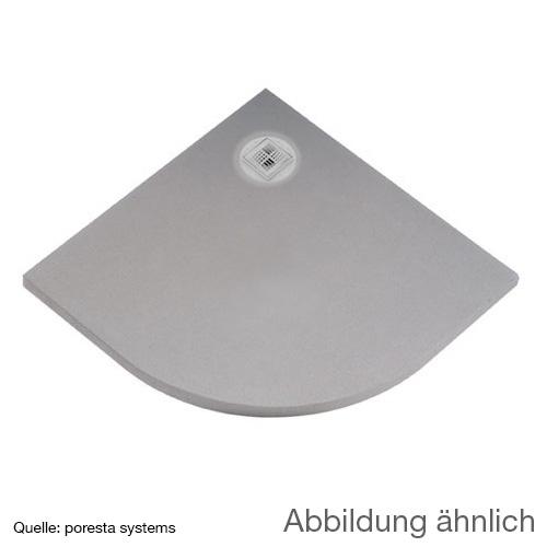 poresta systems BF Duschelement L: 90 B: 90 H: 4,5 cm, dezentrierter Ablauf, Viertelkreis 17903036