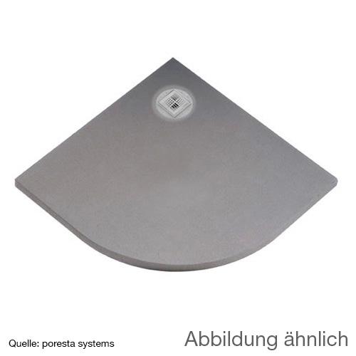 poresta systems BF KMK Duschelement L: 90 B: 90 H: 4,5 cm, dezentrierter Ablauf, Viertelkreis 22000234