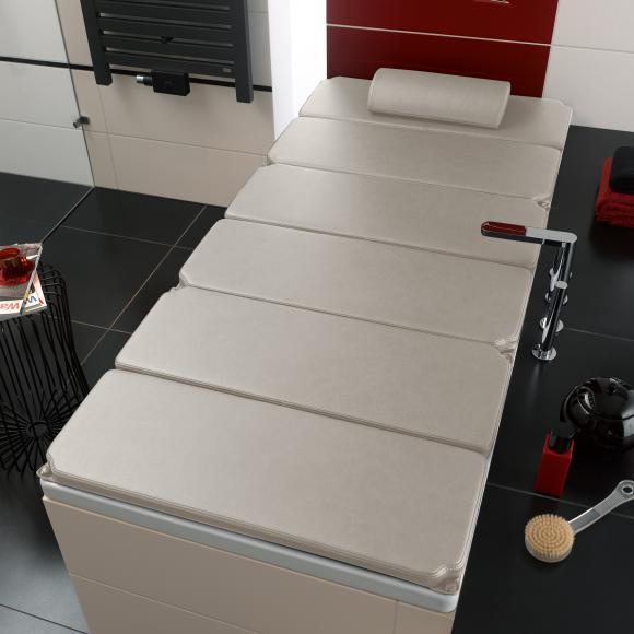 Kaldewei Relaxliege auf Badewanne L: 190 B: 90 cm beige 689710020000