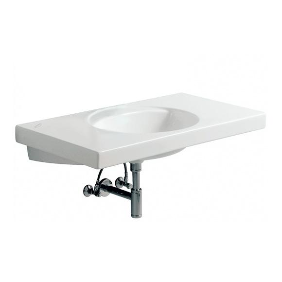 Geberit Preciosa Waschtisch B: 100 T: 55 cm weiß ohne Hahnloch ohne Überlauf 124240000