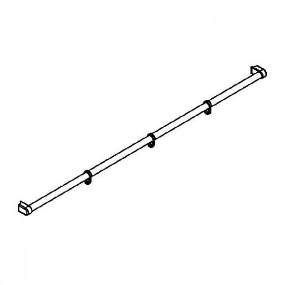 Kermi Pega Handtuchhalter für Duschkabine B: 125 cm ZDHHHHOPE125VK