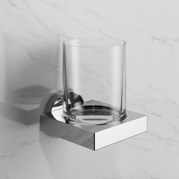 Keuco Edition 90 Glashalter mit Echtkristall-Glas B: 93 H: 130 T: 109 mm 19050019000