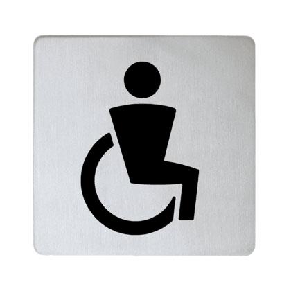 Keuco Plan Türschild Symbol Behinderte 14968 chrom 14968010000