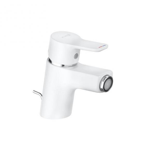 Kludi PURE&EASY Bidet-Einhandmischer mit Ablaufgarnitur weiß/chrom 375339165