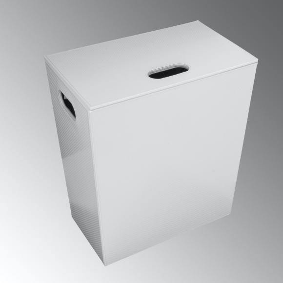 KOH-I-NOOR ECOPELLE Wäschekorb B: 430 H: 480 T: 260 mm weiß metallic 2262VV