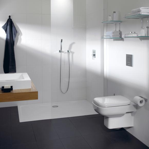 Repabad Como Rechteck-Duschwanne L: 110 B: 80 H: 2,5 cm weiß 0020597-0001