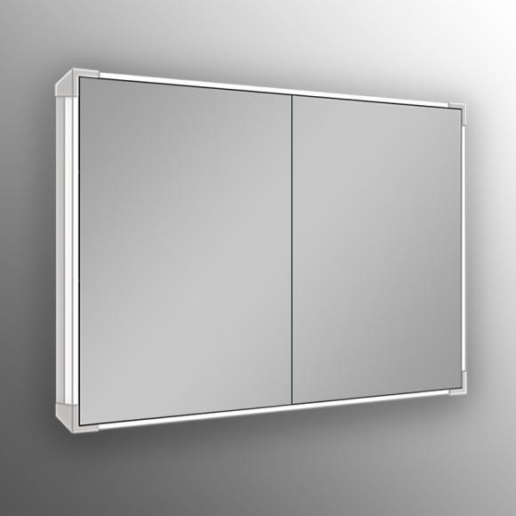 Schneider A-LINE Spiegelschrank mit LED-Beleuchtung B: 100 H: 73,4 T: 15,8 cm Steckdosen mittig 166.100.02.5002