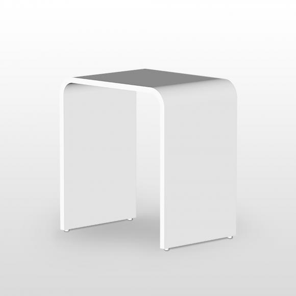 Steinberg Serie 430 Duschhocker B: 400 H: 430 T: 300 mm weiß 430 7000 W