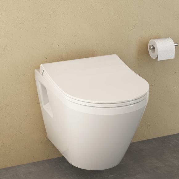 VitrA Integra Wand-Flachspül-WC L: 54 B: 35,5 cm mit Bidetfunktion weiß 7064L003-0850