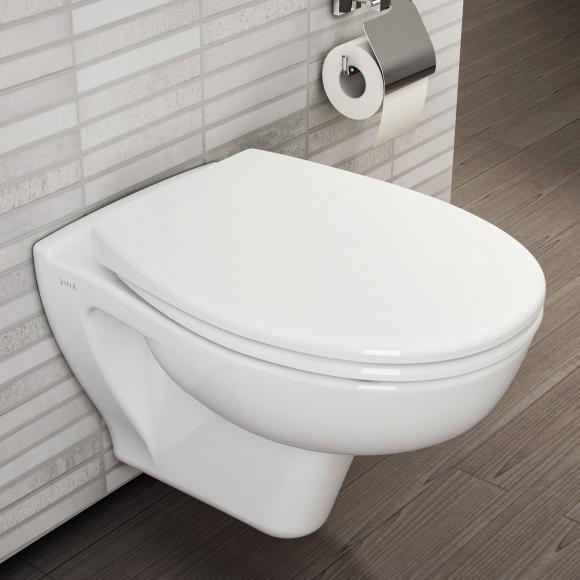 VitrA S20 Wand-Tiefspül-WC VitrAflush 2.0 L: 52 B: 36 cm mit Bidetfunktion weiß, mit VitrAclean 7741B403-0850