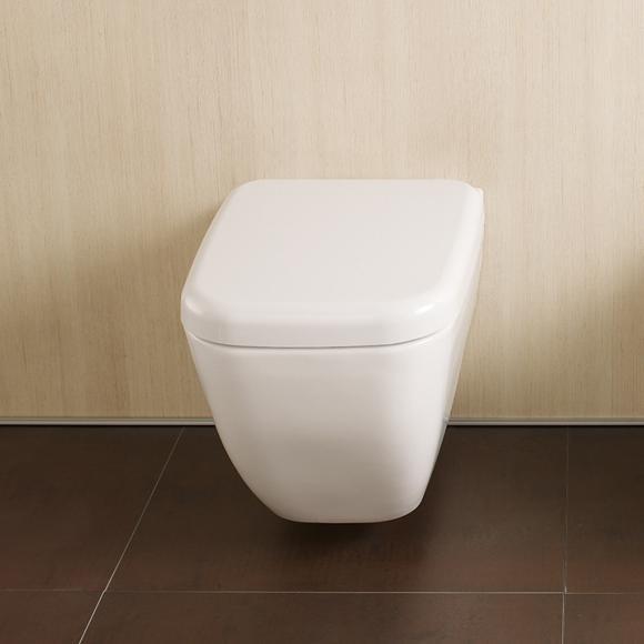 VitrA Shift Wand-Tiefspül-WC L: 54 B: 36 cm mit Bidetfunktion weiß 4392B003-1618