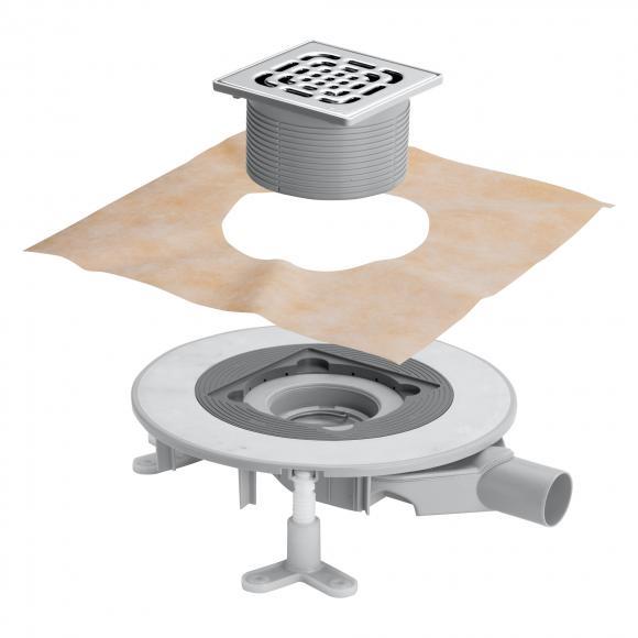 Viega Advantix Top-Badablauf für die Verbundabdichtung, Aufsatz mit Rahmen aus Edelstahl 669270