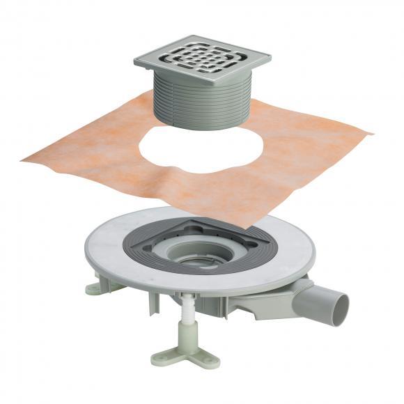 Viega Advantix Top-Badablauf für die Verbundabdichtung, Aufsatz mit Rahmen aus Kunststoff 669263